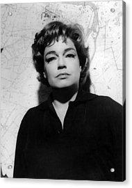 Simone Signoret, 1963 Acrylic Print by Everett