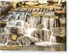 Simple Yet Powerful Waterfall Acrylic Print by Daphne Sampson