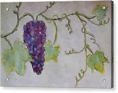 Simply Grape Acrylic Print by Heidi Smith