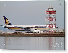 Singapore Airlines Jet Airplane At San Francisco International Airport Sfo . 7d12140 Acrylic Print by Wingsdomain Art and Photography