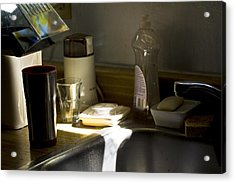 Sink After Roasting Coffee Acrylic Print by Larry Darnell