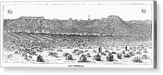 Sioux War: Fort Fetterman Acrylic Print by Granger