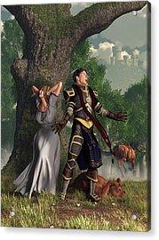 Sir Justinus The Singing Knight Acrylic Print by Daniel Eskridge