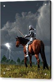 Sir Lightning Rod Acrylic Print by Daniel Eskridge
