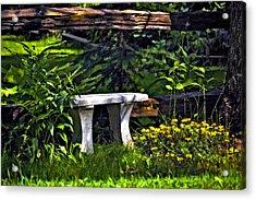 Sit A Spell Acrylic Print by Steve Harrington
