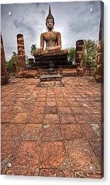 Sitting Buddha Acrylic Print by Adrian Evans