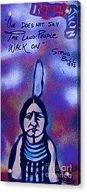Sitting Bull...land Acrylic Print by Tony B Conscious
