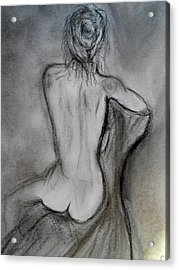Sitting Acrylic Print by Mary DeLawder