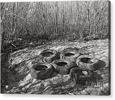 Six Tires Acrylic Print by Janeen Wassink Searles