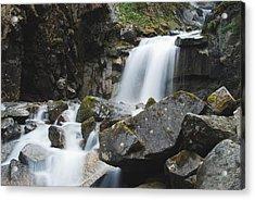 Skagway Waterfall 8619 Acrylic Print by Michael Peychich