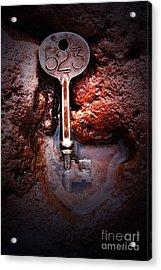 Skeleton Key No 523 Acrylic Print by C E Dyer