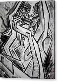 Sketch - Intrigued Acrylic Print by Kamil Swiatek