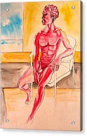 Skinless Acrylic Print by Nina Mirhabibi