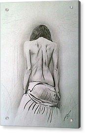 Skirt II Acrylic Print by Paula Steffensen