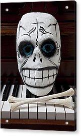 Skull Mask With Bones Acrylic Print by Garry Gay