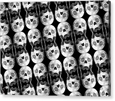 Skull Scope 5 Acrylic Print by Adam Vance