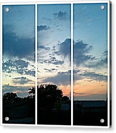 #sky #sunset #clouds #andrography Acrylic Print by Kel Hill