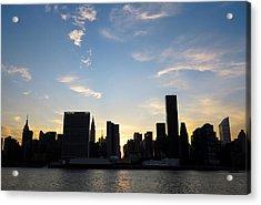 Skyline Sunset Silhouette Acrylic Print by Heidi Hermes