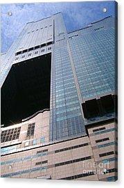 Skyscraper View Acrylic Print by Yali Shi