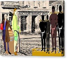 Slave Auction Acrylic Print by Belinda Threeths