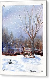 Sleigh Ride Acrylic Print by Wendy Cunico