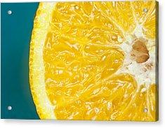 Sliced Orange Acrylic Print by Bill Brennan