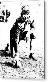 Slingin' Sammy Baugh 1937 Litho Acrylic Print by Padre Art