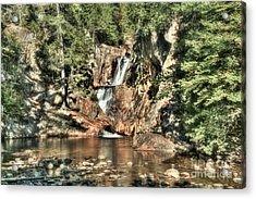 Small Falls Acrylic Print by Brenda Giasson