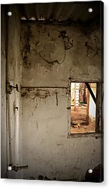 Small Window In An Abandoned Kitchen Acrylic Print by RicardMN Photography