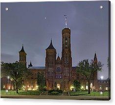 Smithsonian Castle Acrylic Print by Metro DC Photography