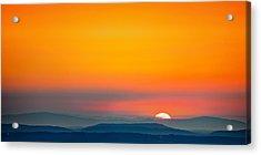 Smokie Sunrise Acrylic Print by Steven Llorca