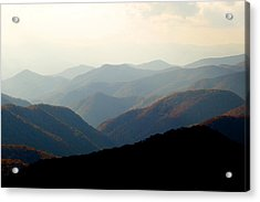 Smoky Mountain Overlook Great Smoky Mountains Acrylic Print by Rich Franco