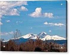 Snow-capped Mountain Majesties Acrylic Print by Harry Strharsky