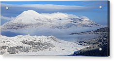 Snow Covered Landscape In Winter Near Acrylic Print by Peter Zoeller