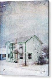 Snow Flurry 'round My Neighbor's House Acrylic Print by Priska Wettstein