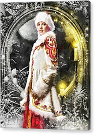 Snow Queen Acrylic Print by Mo T