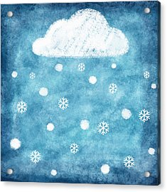 Snow Winter Acrylic Print by Setsiri Silapasuwanchai