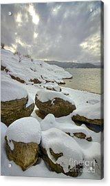 Snowcapped Acrylic Print by Idaho Scenic Images Linda Lantzy