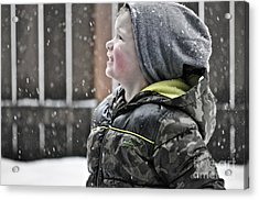 Snowflake Thoughts Acrylic Print by Gwyn Newcombe