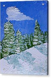 Snowy Pines Acrylic Print by Heidi Smith