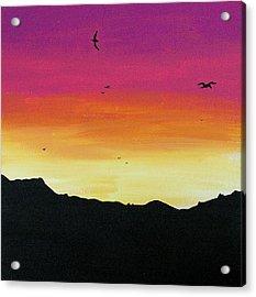 Soaring Sunset Acrylic Print by Jera Sky