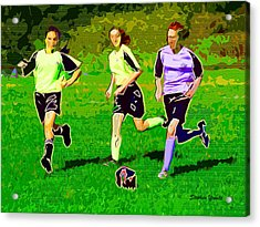 Soccer Acrylic Print by Stephen Younts