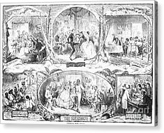 Social Activities, 1861 Acrylic Print by Granger