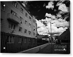 Social Housing Development Pearse House In Dublins Lower Sandwith Street Inner City Dublin Acrylic Print by Joe Fox