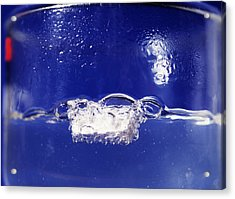 Sodium Reacting With Water Acrylic Print by Andrew Lambert Photography