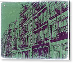 Soho New York Acrylic Print by Naxart Studio