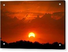 Solar Eclipse Acrylic Print by Bill Pevlor