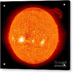 Solar Prominence Acrylic Print by Nasa