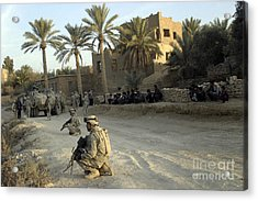 Soldiers Of The U.s. Army Provide Acrylic Print by Stocktrek Images