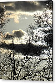Some Rather Serious Looking Clouds Acrylic Print by Brenda Conrad